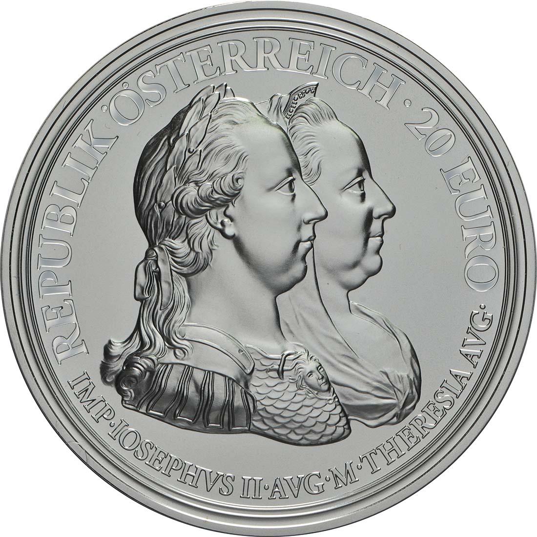 Vorderseite:Österreich : 20 Euro Weisheit und Reformen  2018 PP