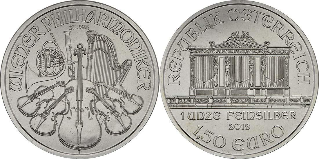 Lieferumfang:Österreich : 1,5 Euro Philharmoniker  2018 Stgl.