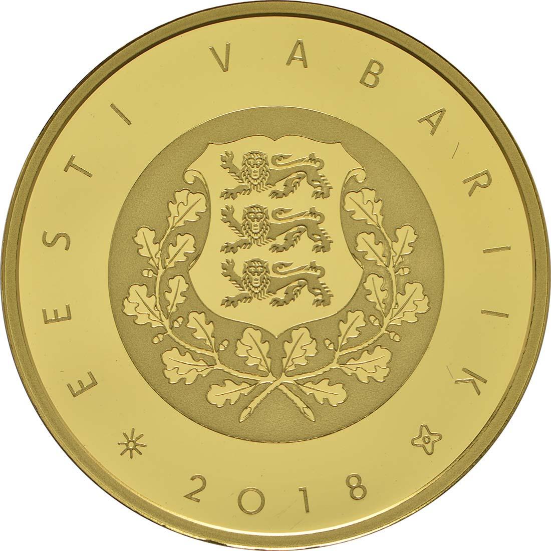 Rückseite :Estland : 100 Euro 100 Jahre Republik Estland  2018 PP
