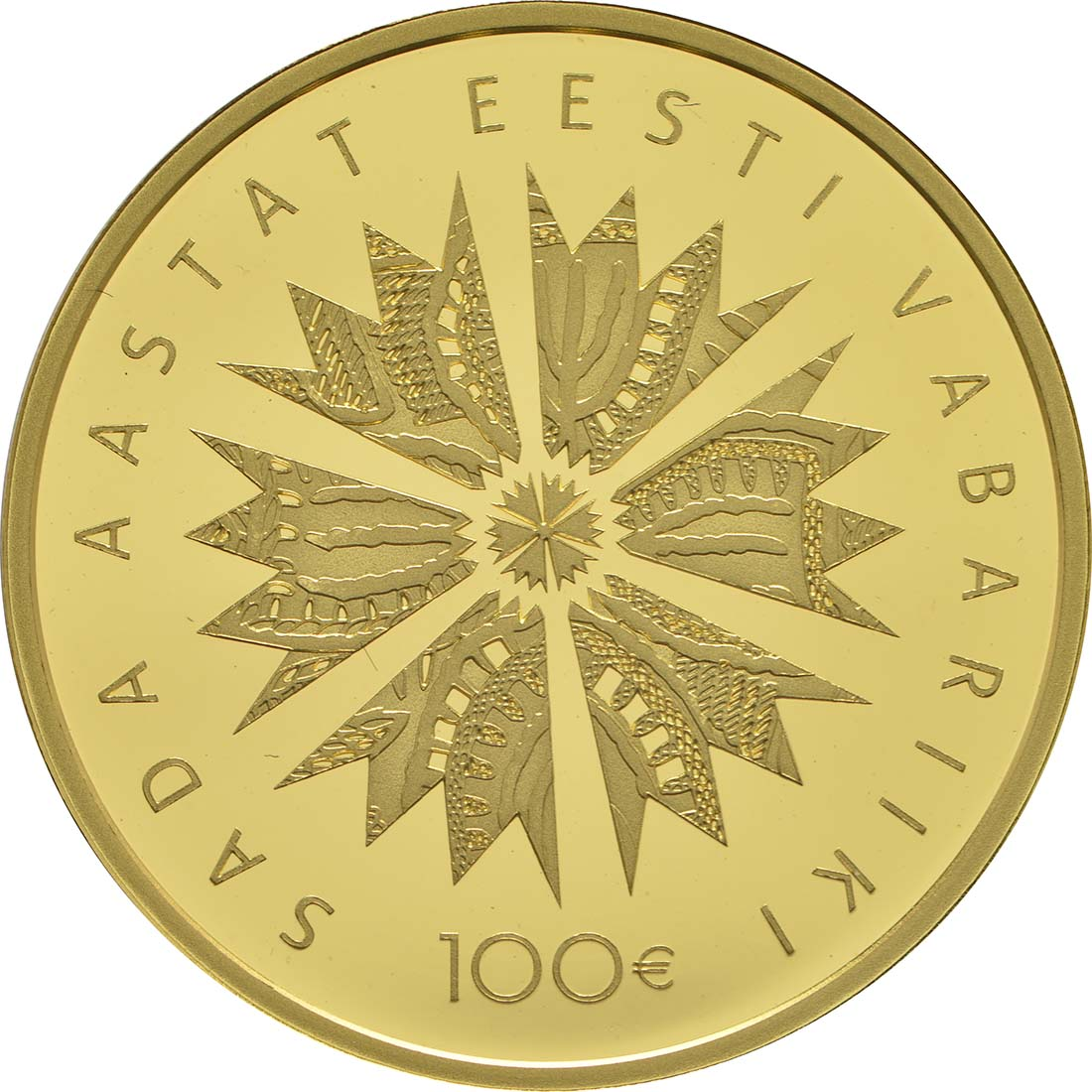 Vorderseite :Estland : 100 Euro 100 Jahre Republik Estland  2018 PP