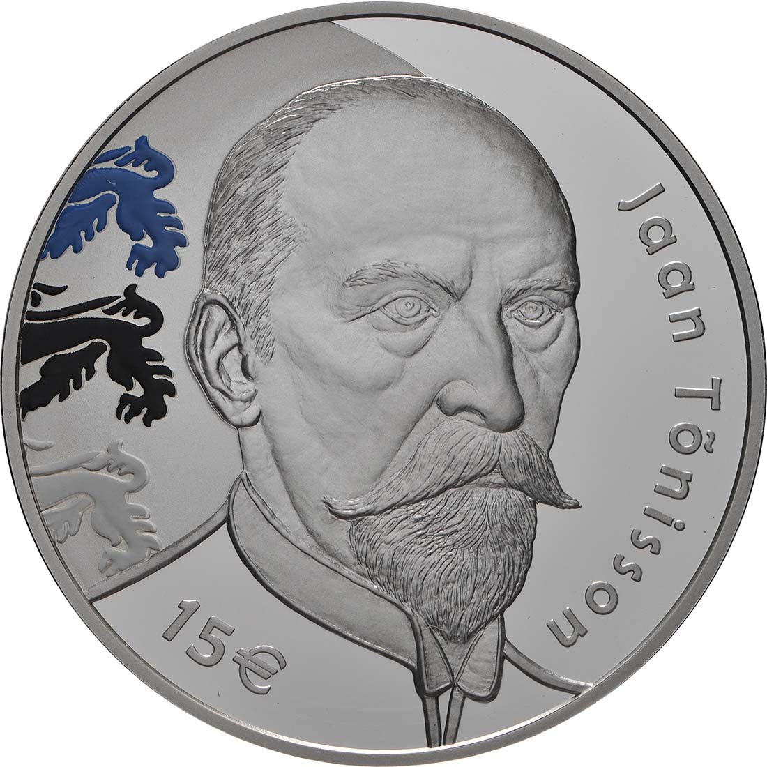 Vorderseite:Estland : 15 Euro Jaan Tönisson  2018 PP