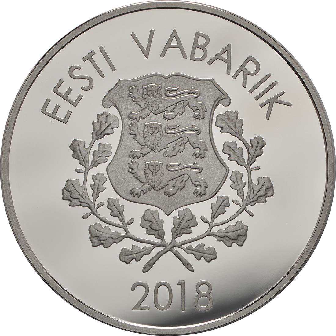 Rückseite:Estland : 10 Euro Winterspiele  2018 PP