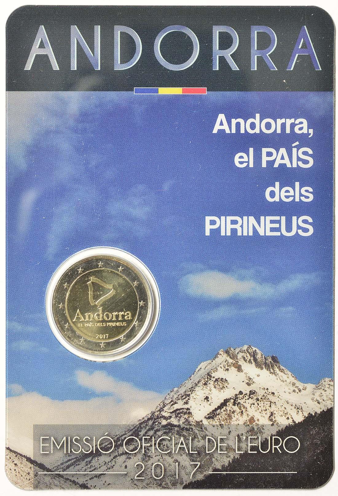 Lieferumfang:Andorra : 2 Euro Andorra - Das Land in den Pyrenäen  2017 Stgl.