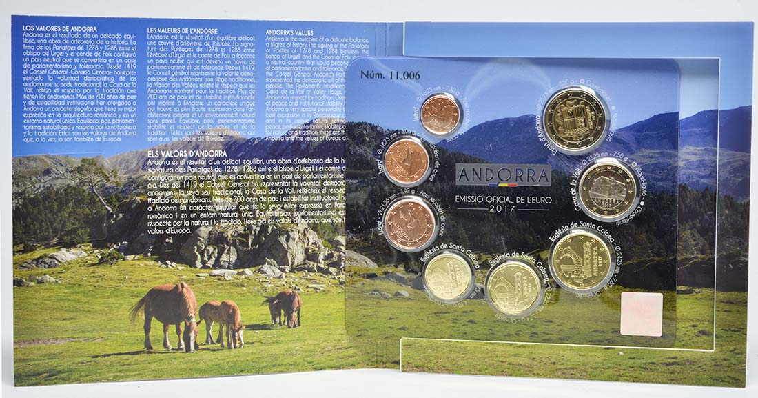 Andorra : 3,88 Euro KMS Andorra  2017 bfr