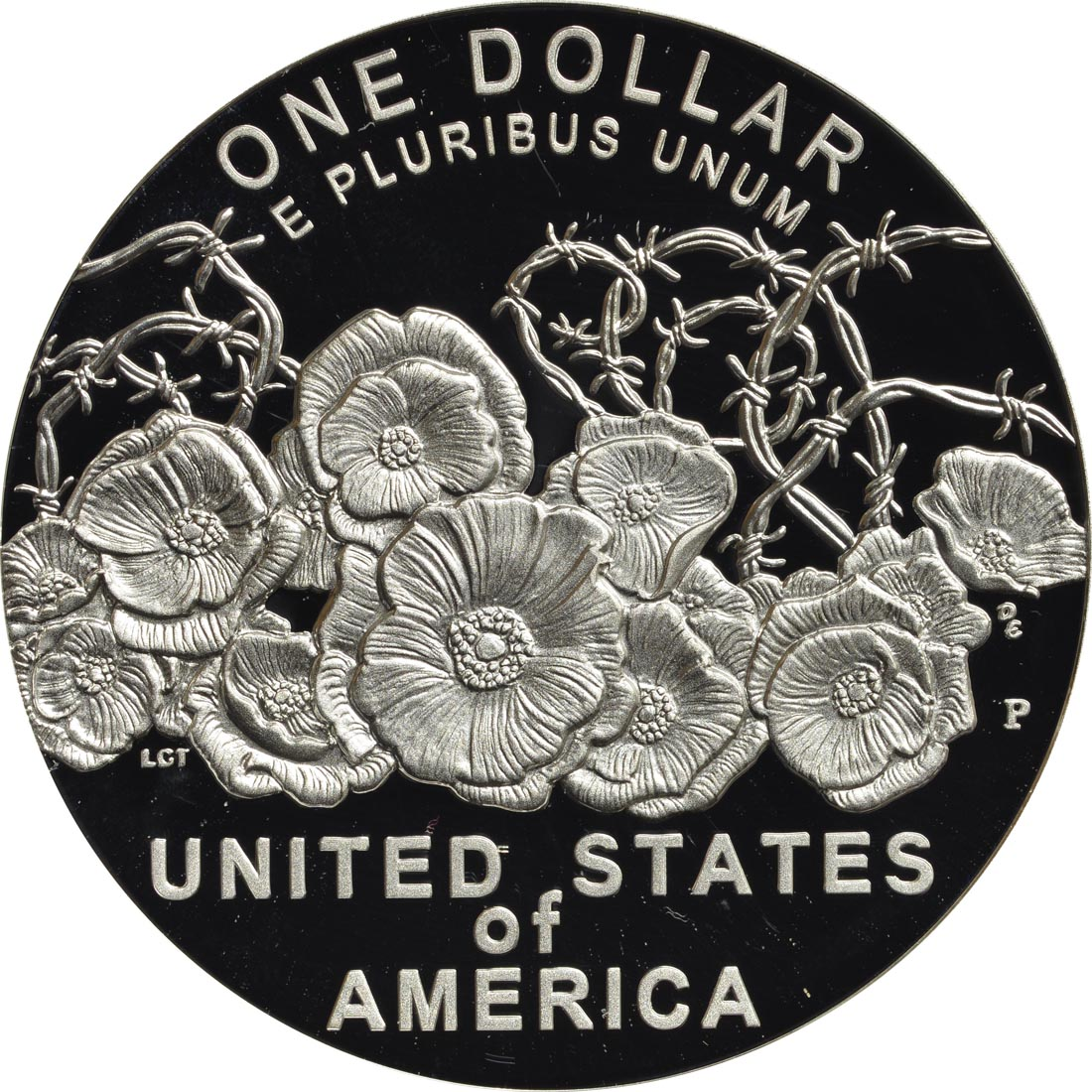 Rückseite :USA : 1 Dollar 100 Jahre Ende WW1  2018 PP