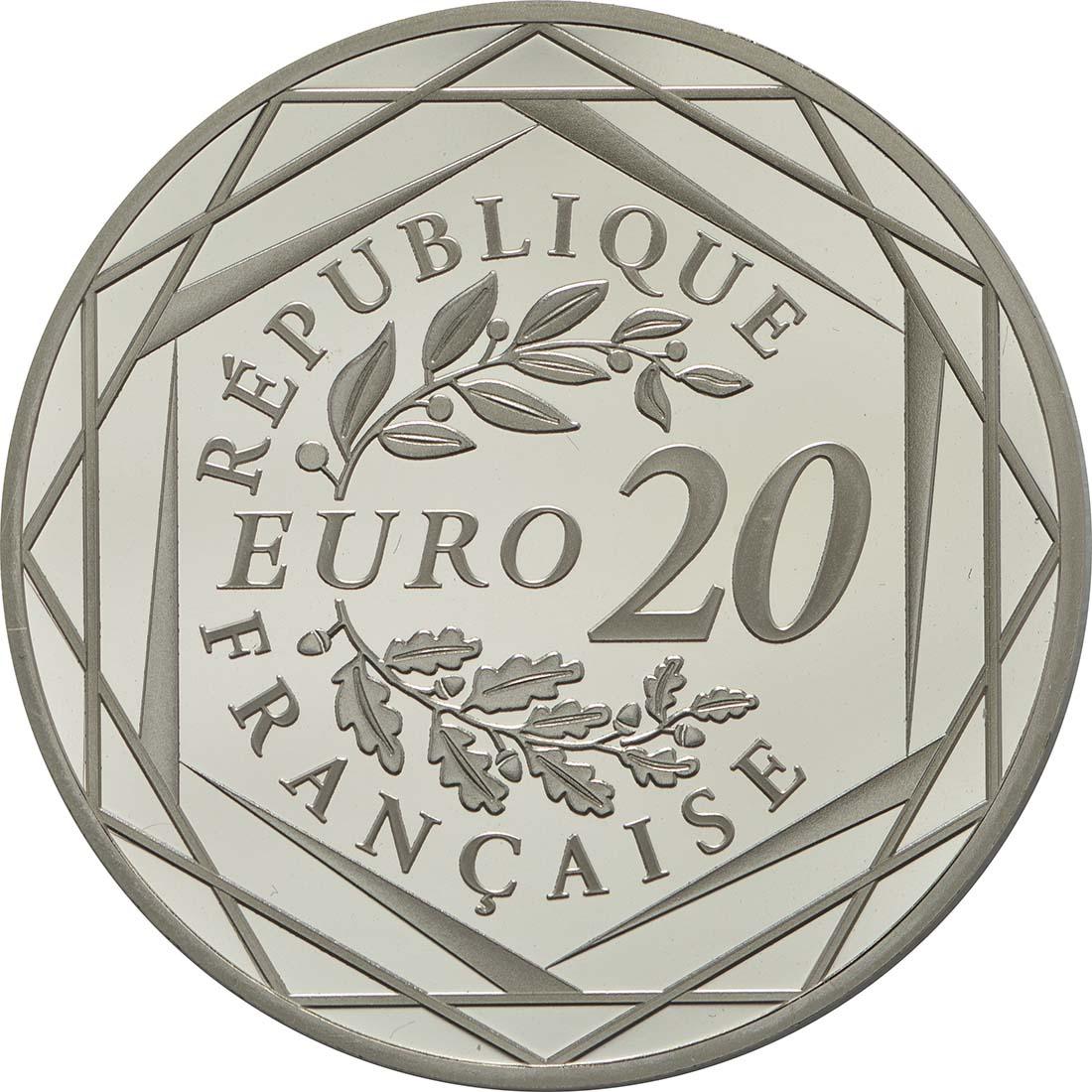 Rückseite :Frankreich : 20 Euro Marianne  2018 PP