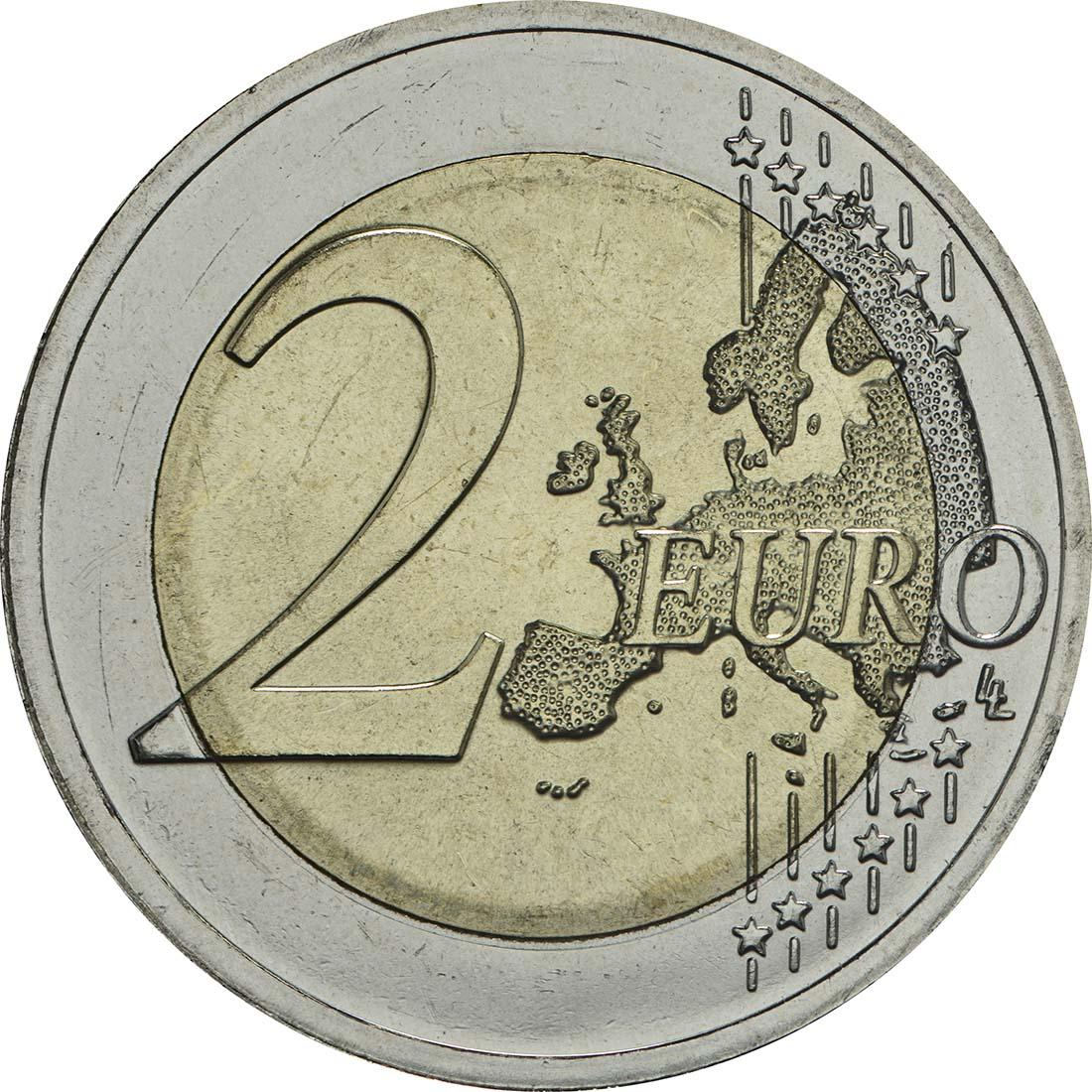 Vorderseite:Litauen : 2 Euro 100 Jahre Unabhängigkeit  2018 bfr