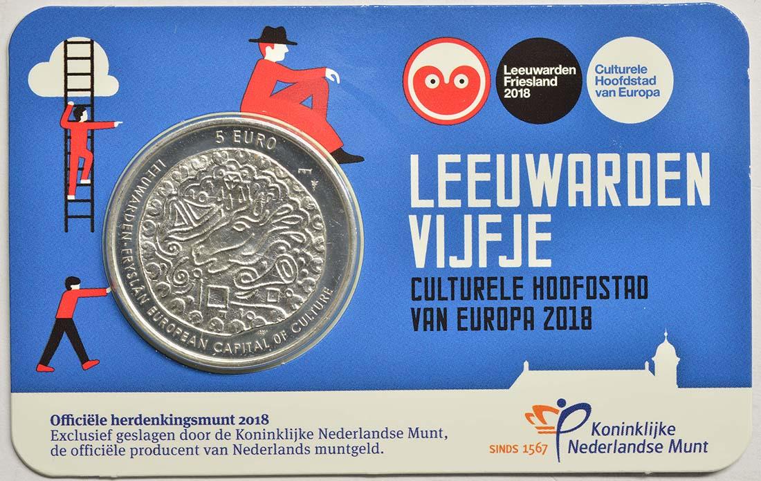 Niederlande : 5 Euro Leeuwarden Europäische Kulturhauptstsadt  2018 bfr