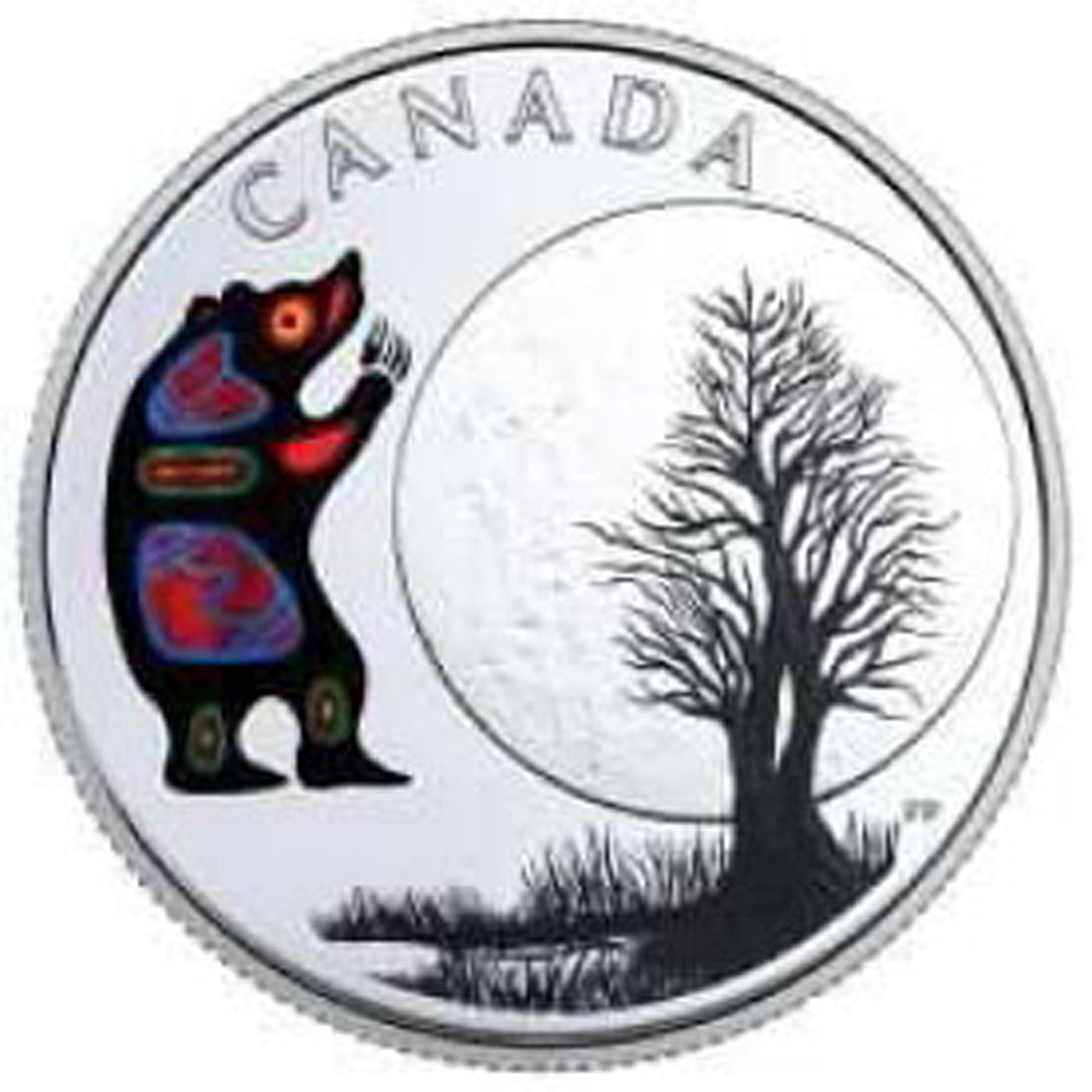 Kanada : 3 Dollar Bear Moon - Die 13 Lehren von Grandmother Moon  2018 PP
