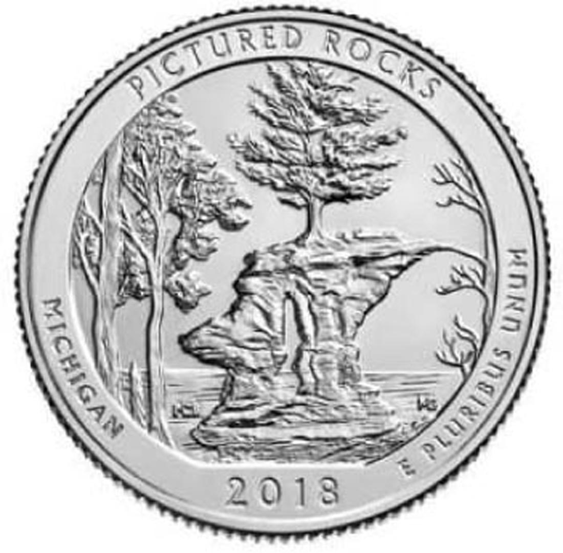 USA : 25 Cent Pictured Rocks National Lakeshore - Michigan  2018 Stgl.