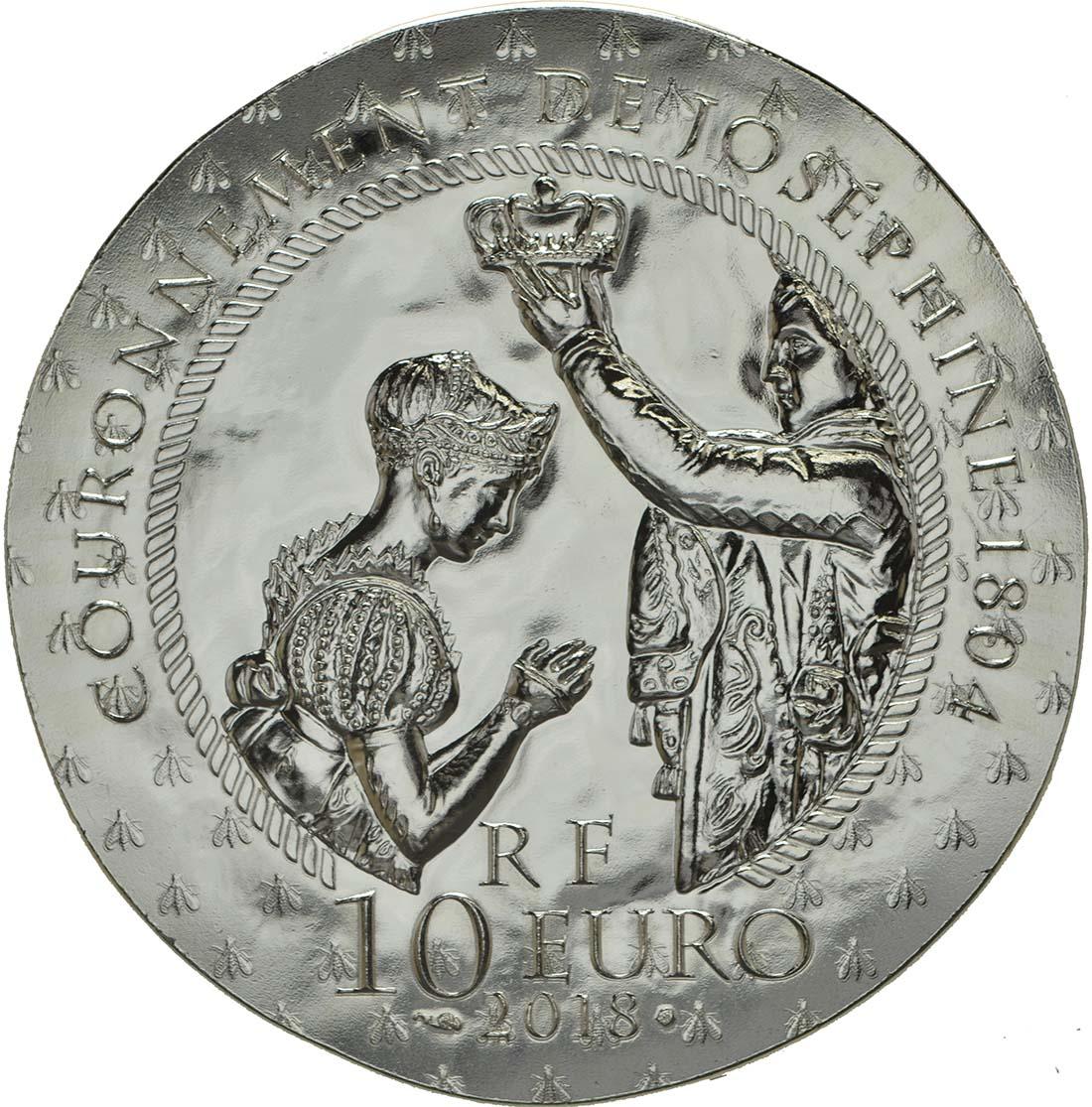 Rückseite:Frankreich : 10 Euro Joséphine de Beauharnais  2018 PP
