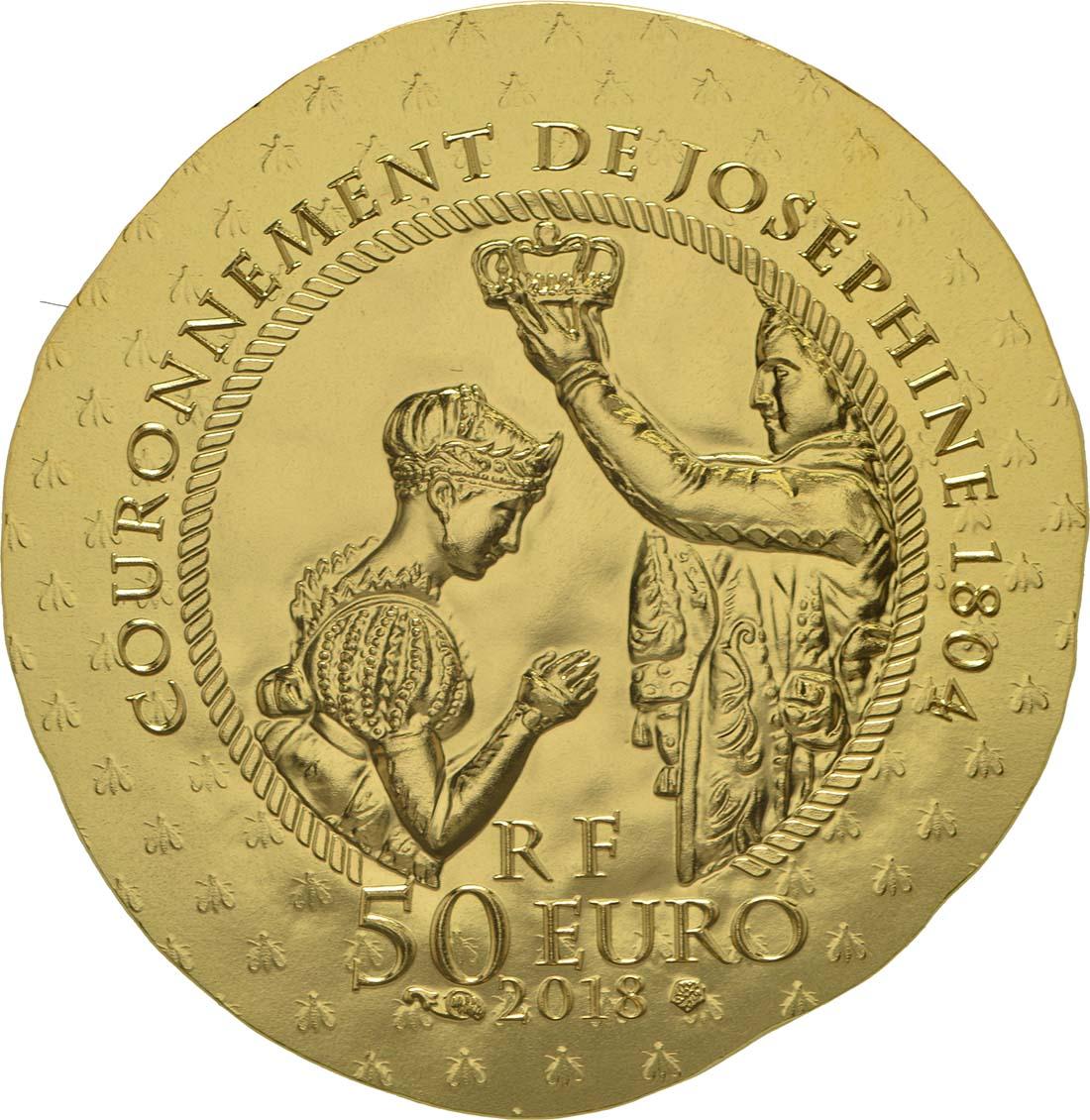 Rückseite:Frankreich : 50 Euro Joséphine de Beauharnais  2018 PP