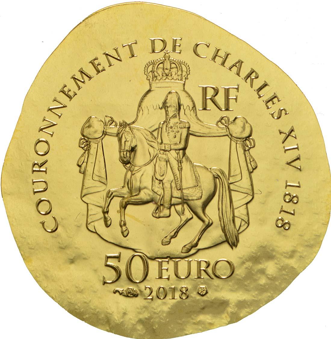 Rückseite :Frankreich : 50 Euro Désirée Clary  2018 PP