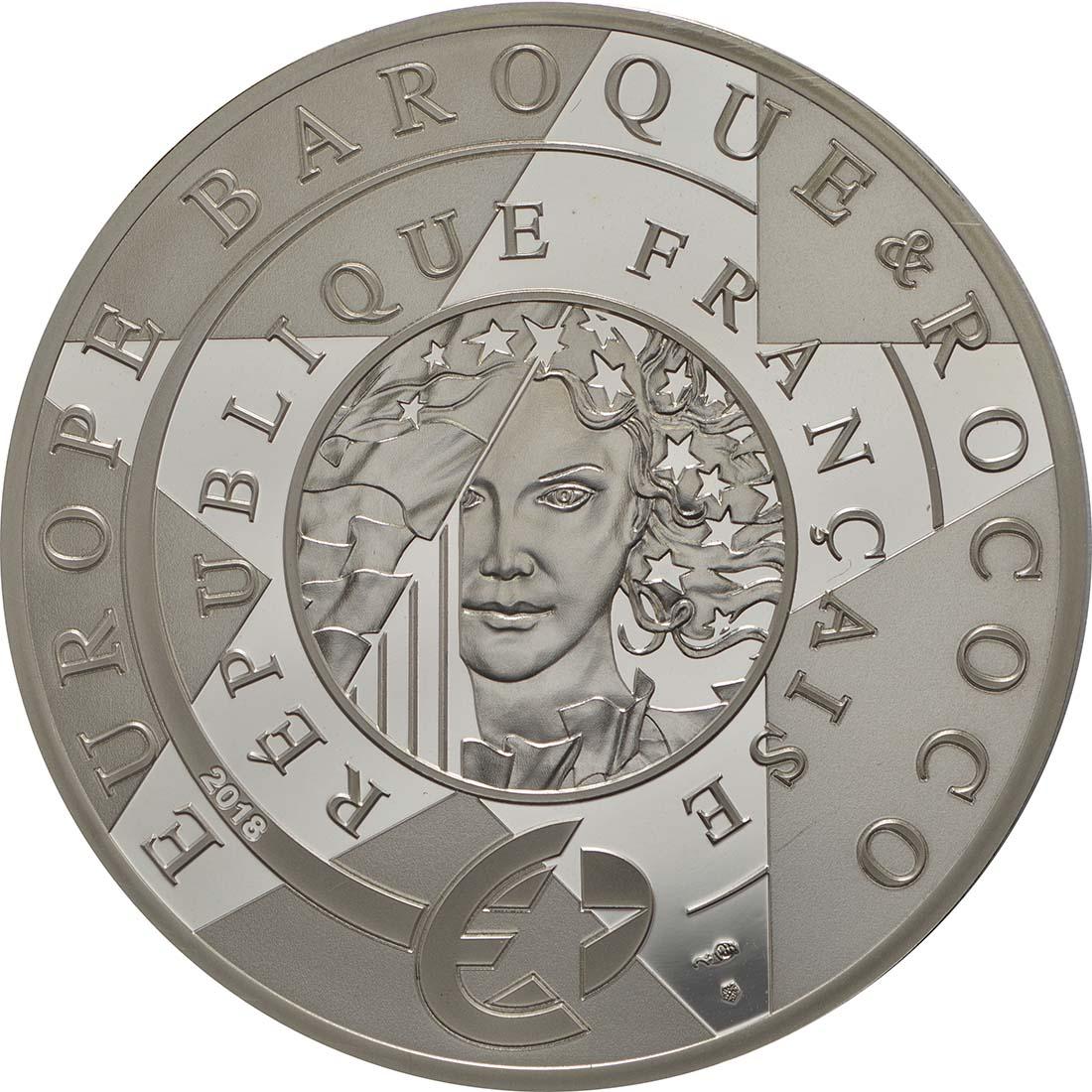 Rückseite:Frankreich : 10 Euro Barock und Rokoko  2018 PP
