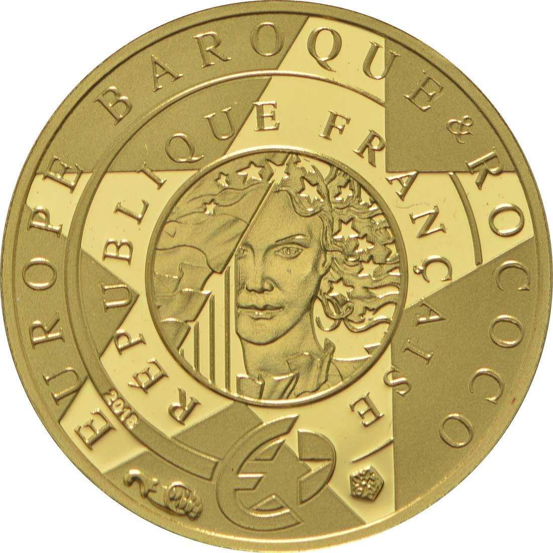 Rückseite :Frankreich : 5 Euro Barock und Rokoko  2018 PP