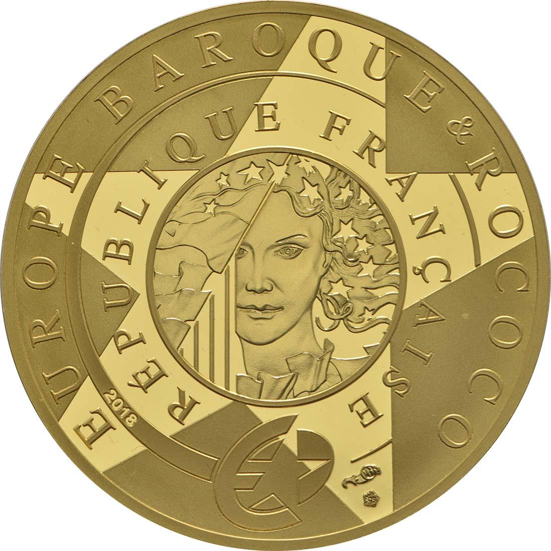 Rückseite:Frankreich : 50 Euro Barock und Rokoko  2018 PP