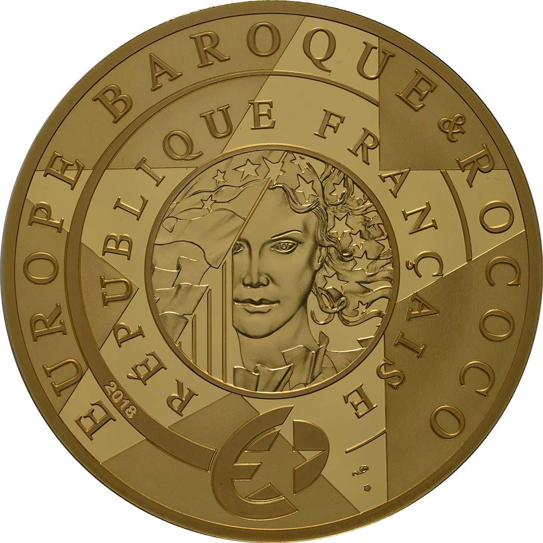 Rückseite:Frankreich : 500 Euro Barock und Rokoko  2018 PP