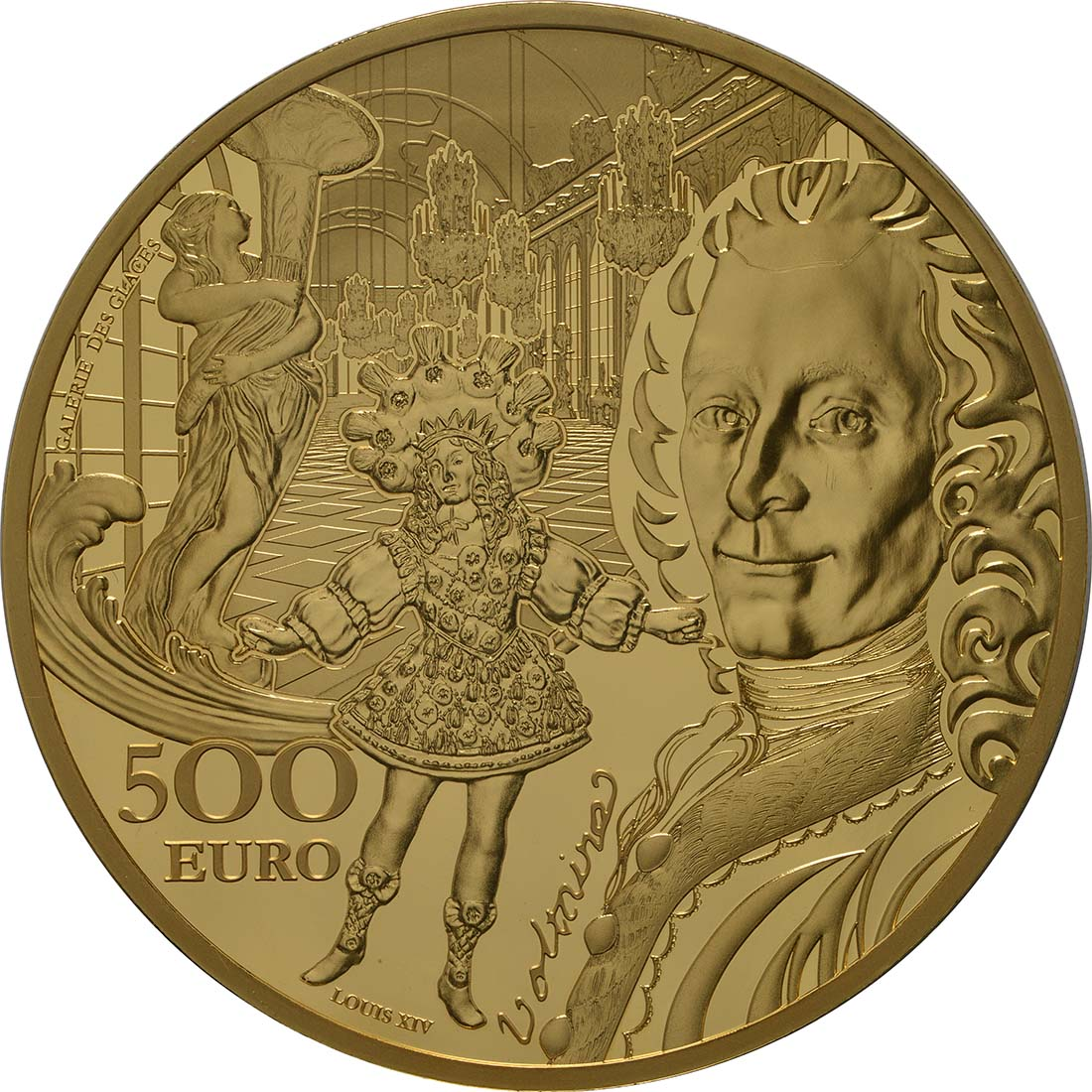 Vorderseite:Frankreich : 500 Euro Barock und Rokoko  2018 PP