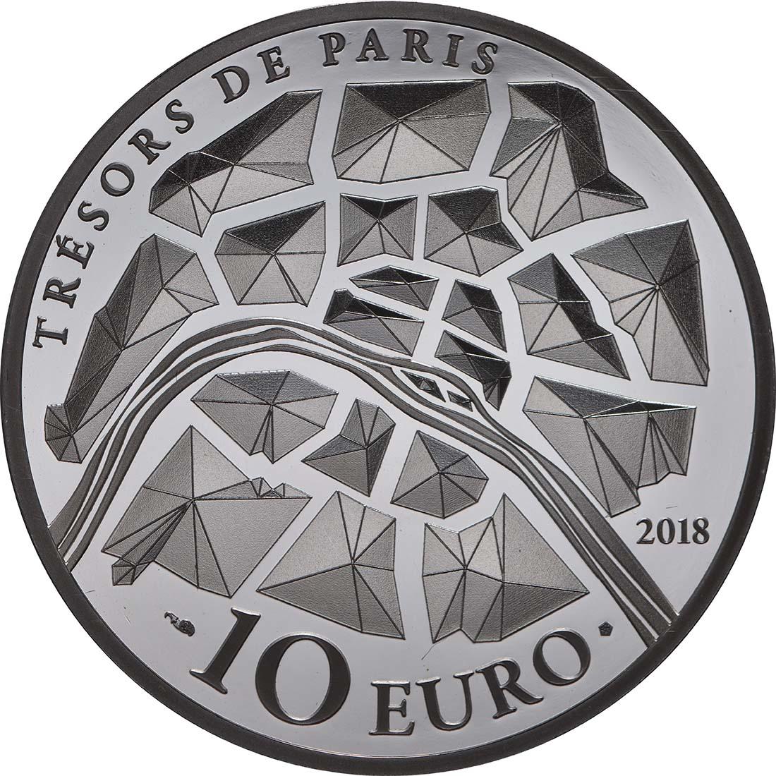 Rückseite:Frankreich : 10 Euro Tor des Schlosses von Versailles  2018 PP