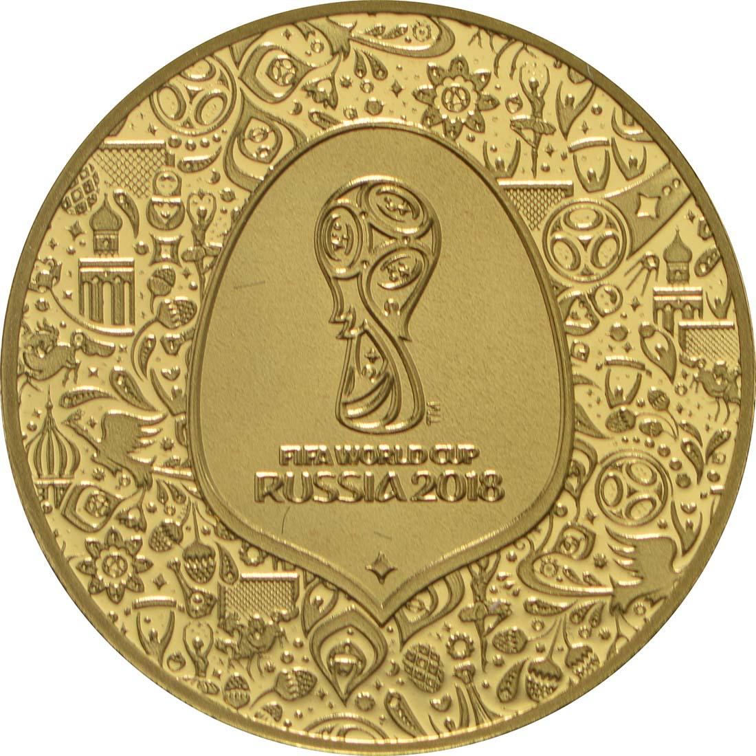 Vorderseite:Frankreich : 5 Euro FIFA Fußball WM  2018 PP