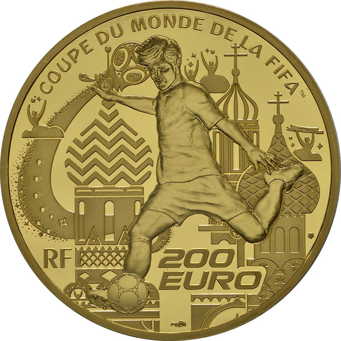 Rückseite :Frankreich : 200 Euro FIFA Fußball WM  2018 PP