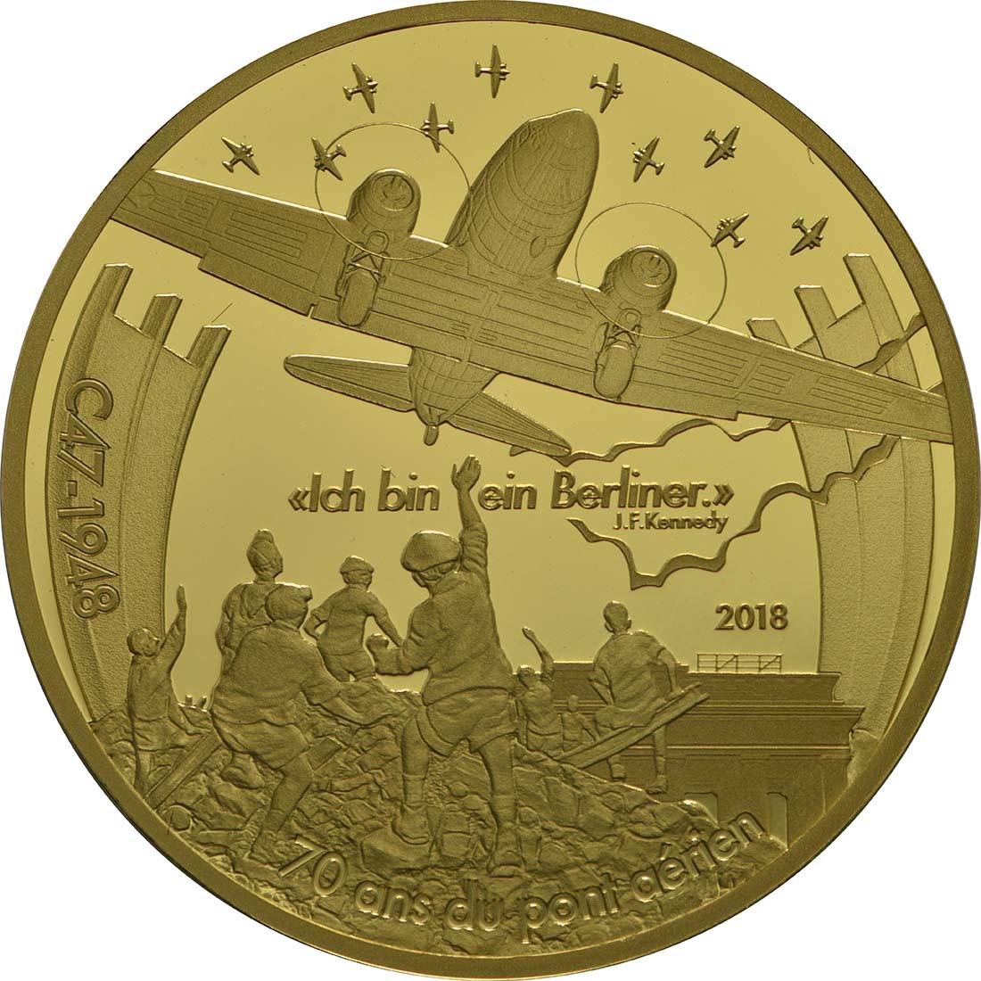 Vorderseite:Frankreich : 50 Euro Dakota C-47 / Luftbrücke Berlin  2018 PP