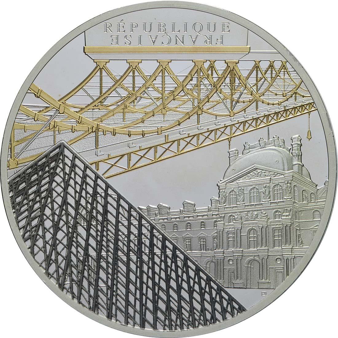 Vorderseite:Frankreich : 10 Euro Louvre  2018 PP