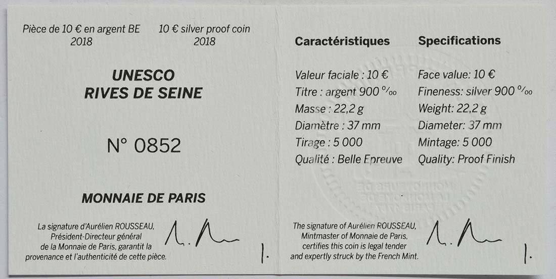 Zertifikat:Frankreich : 10 Euro Louvre  2018 PP