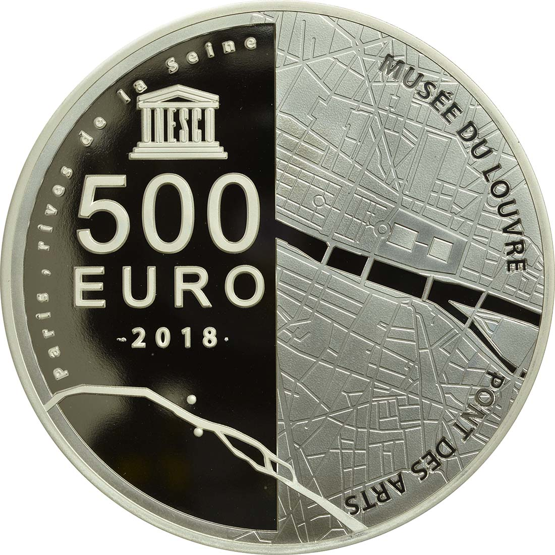 Rückseite:Frankreich : 500 Euro Louvre  2018 PP