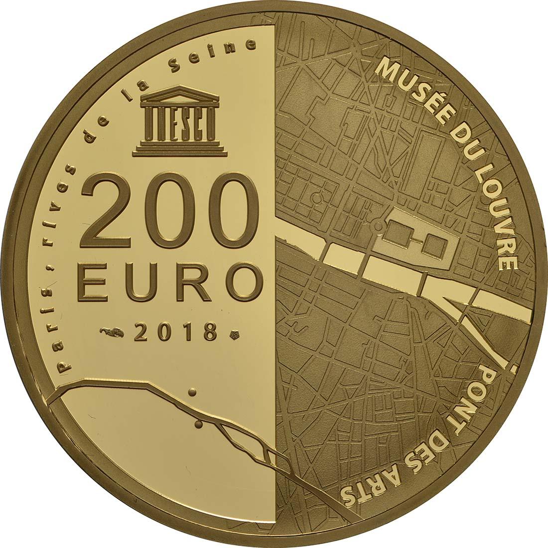 Rückseite:Frankreich : 200 Euro Louvre  2018 PP