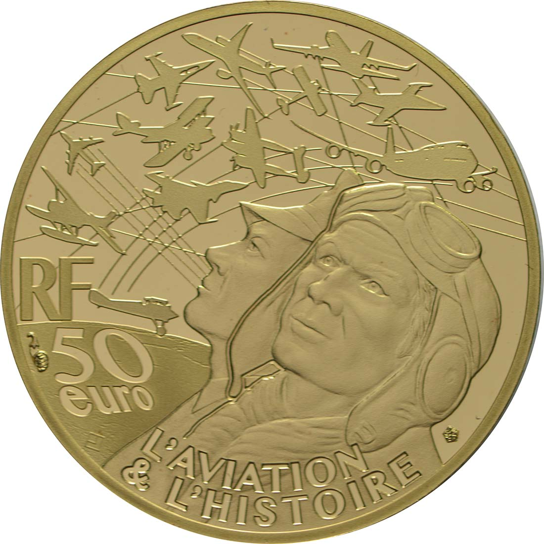 Rückseite:Frankreich : 50 Euro Transall / Luftbrücke Berlin  2018 PP