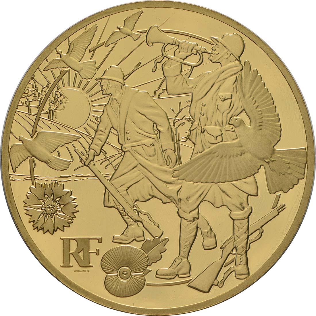 Vorderseite:Frankreich : 50 Euro Frieden - Fairmined Gold  2018 PP