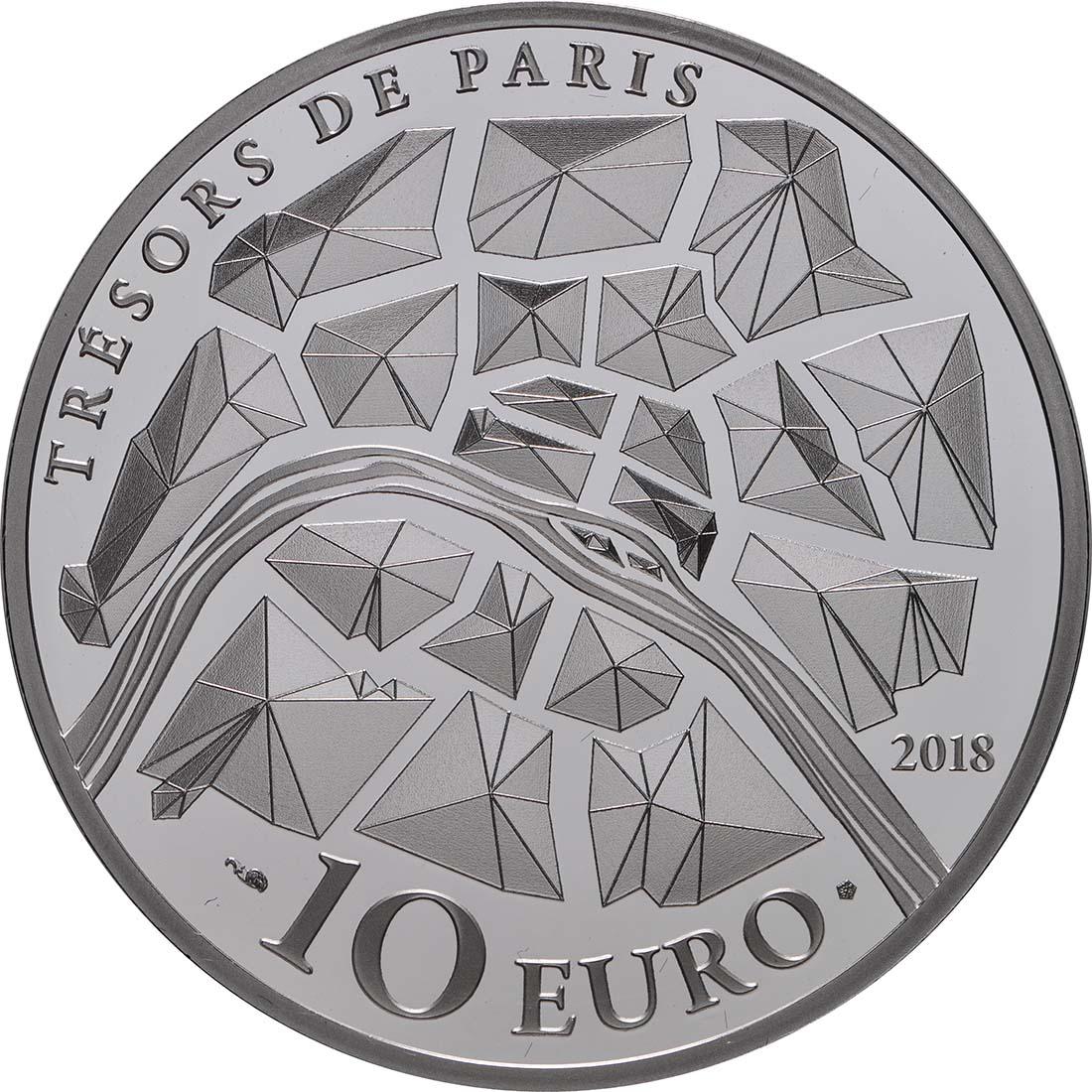 Rückseite:Frankreich : 10 Euro Alexander III Brücke  2018 PP