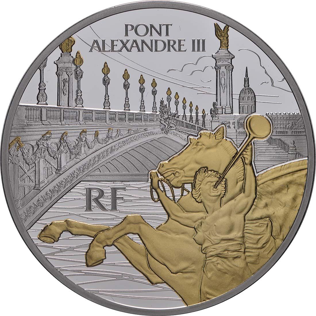 Vorderseite:Frankreich : 10 Euro  Alexander III Brücke  2018 PP