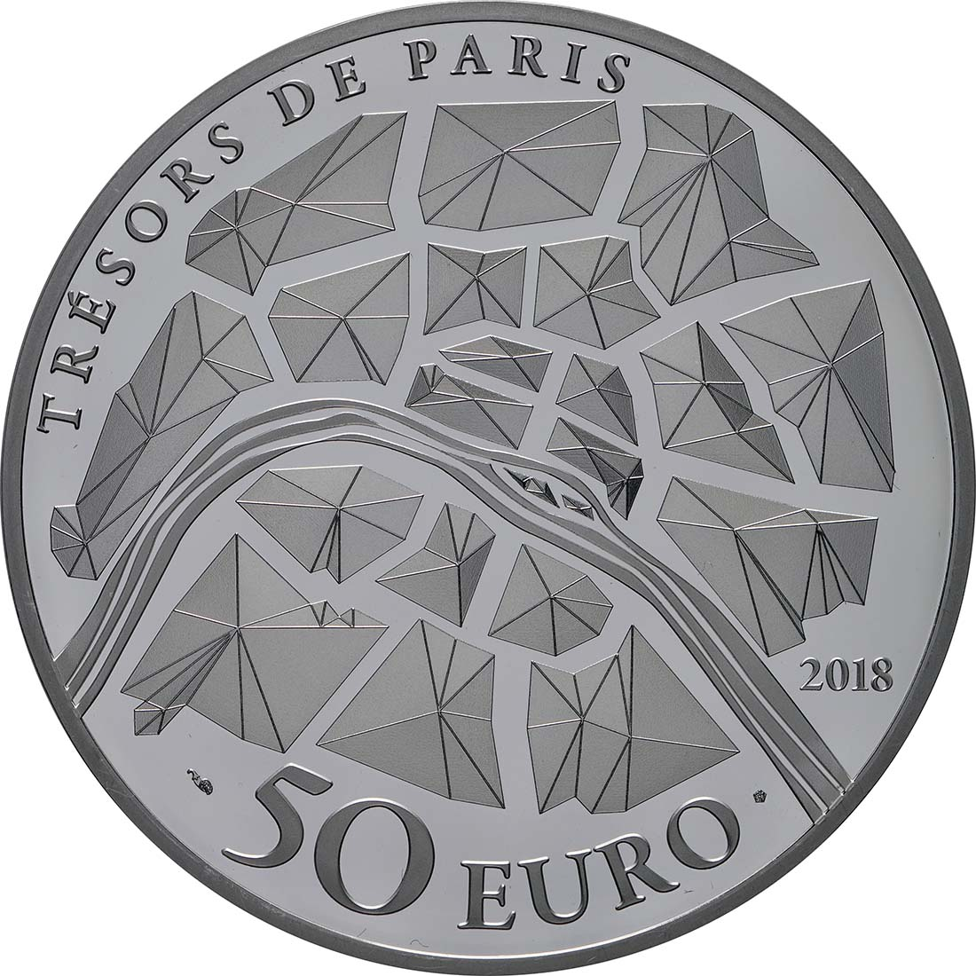 Rückseite:Frankreich : 50 Euro  Alexander III Brücke  2018 PP