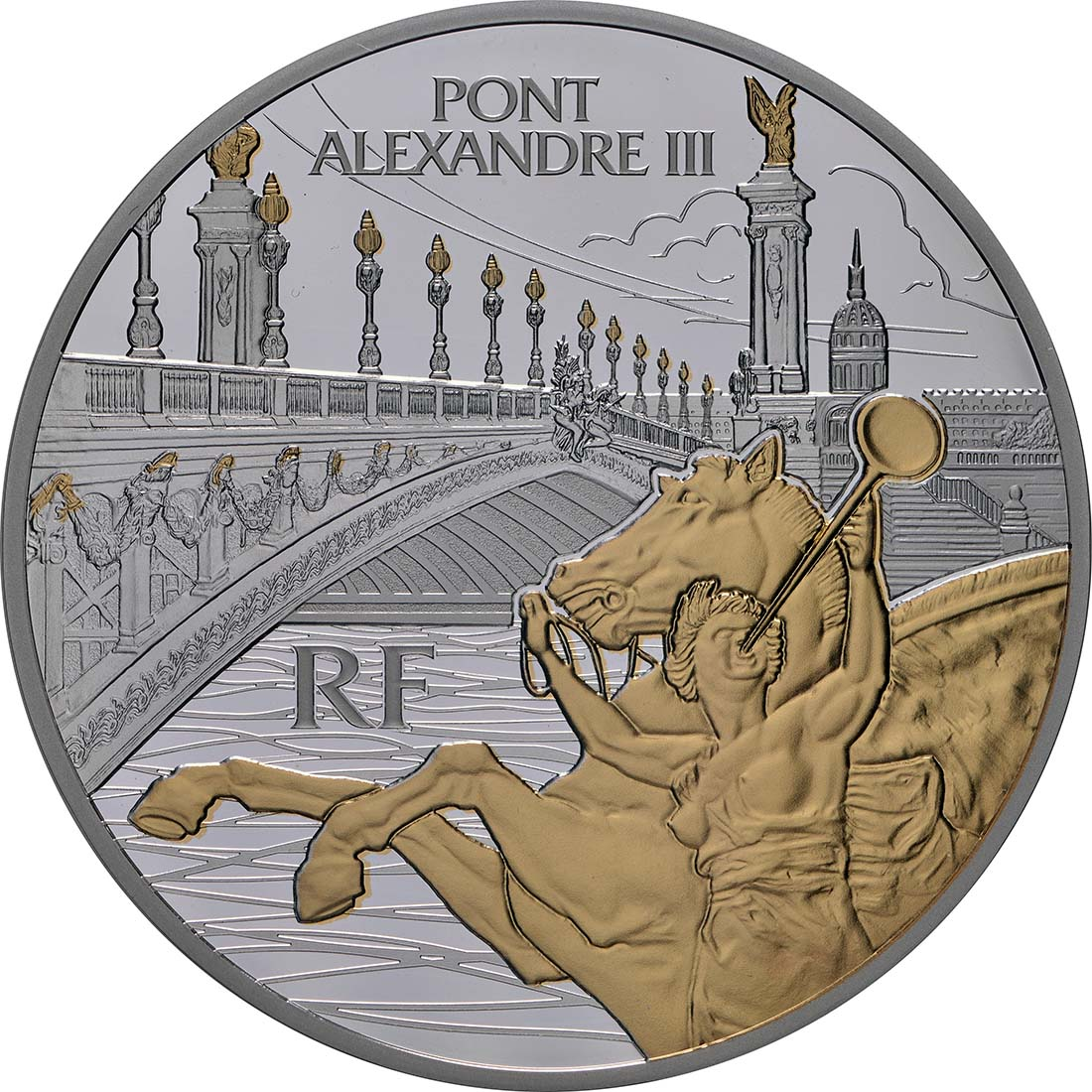 Vorderseite:Frankreich : 50 Euro  Alexander III Brücke  2018 PP