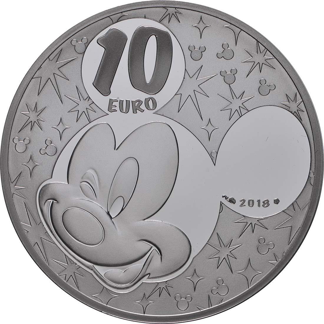 Rückseite:Frankreich : 10 Euro Mickey und seine Freunde  2018 PP
