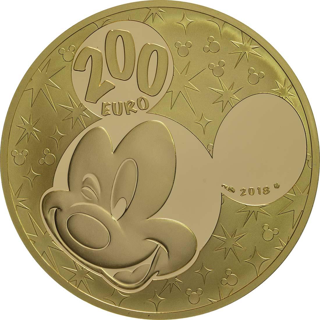 Rückseite:Frankreich : 200 Euro Mickey und seine Freunde  2018 PP
