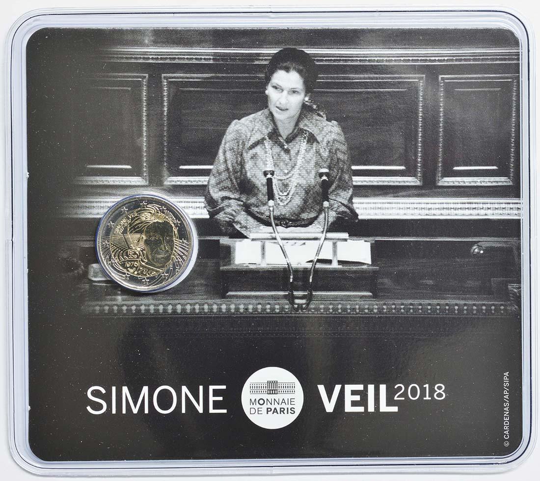 Lieferumfang:Frankreich : 2 Euro Simone Veil  2018 Stgl.
