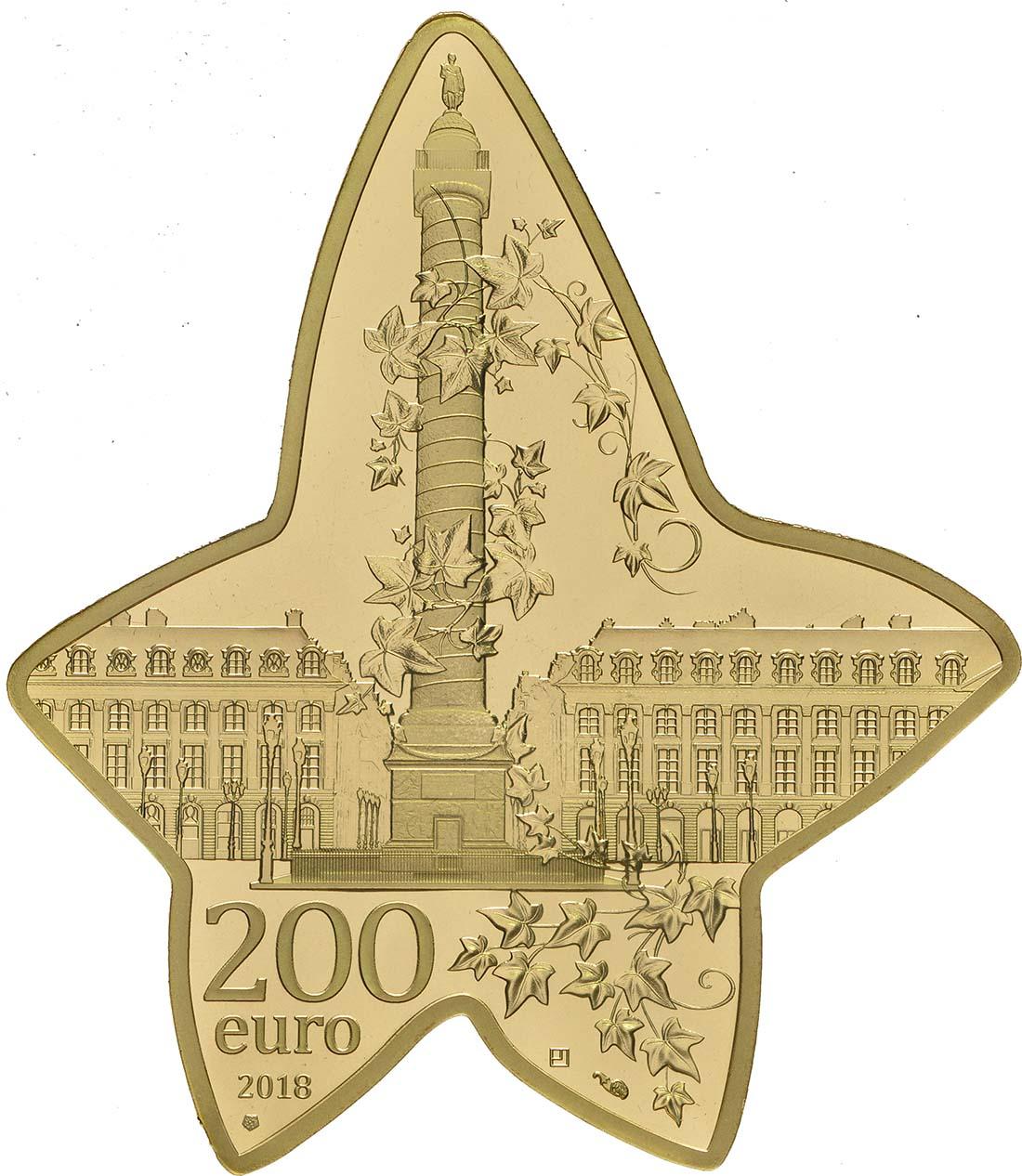 Rückseite:Frankreich : 200 Euro Boucheron in Form eines Efeublattes  2018 PP