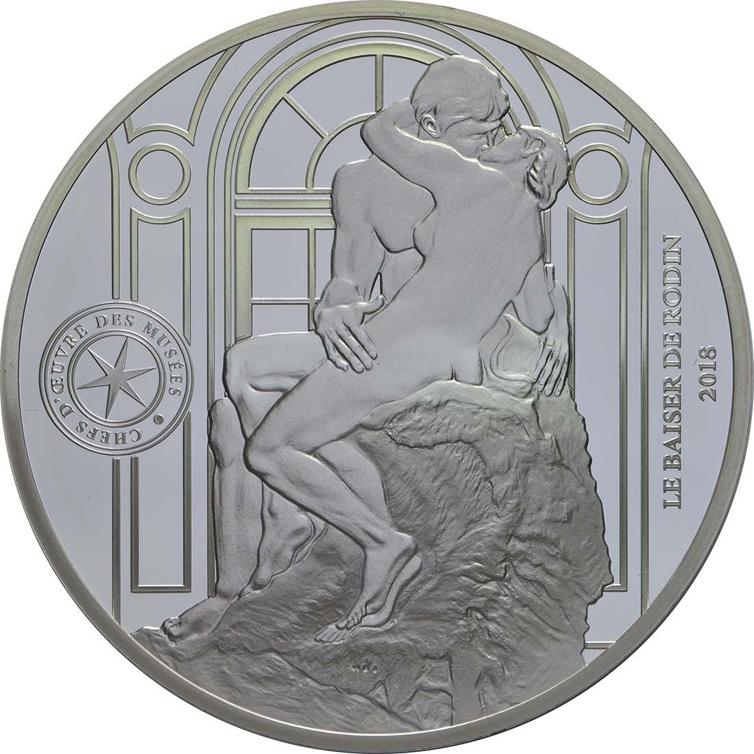 Vorderseite:Frankreich : 10 Euro Le Baiser / Der Kuss  2018 PP