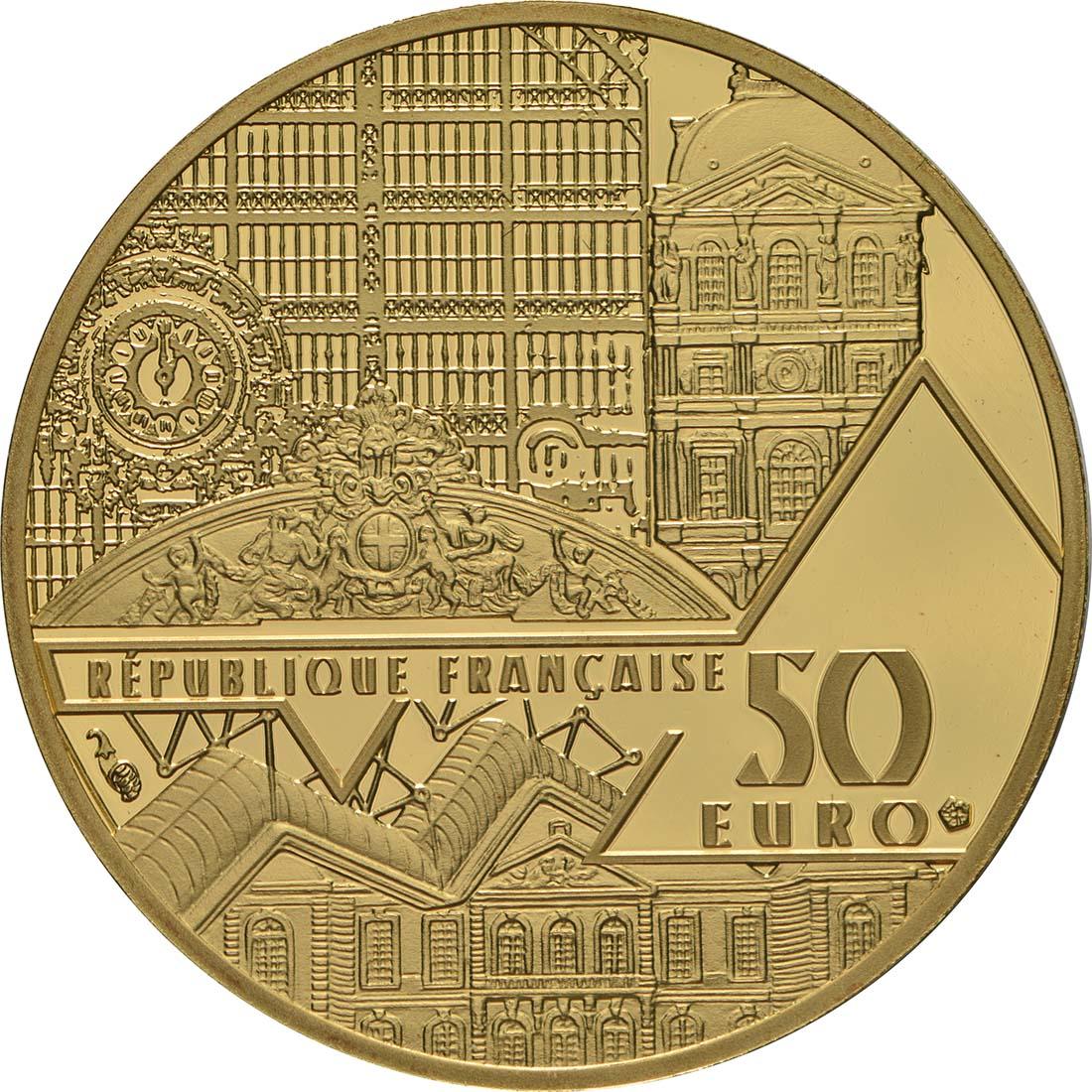 Rückseite:Frankreich : 50 Euro Le Baiser / Der Kuss  2018 PP