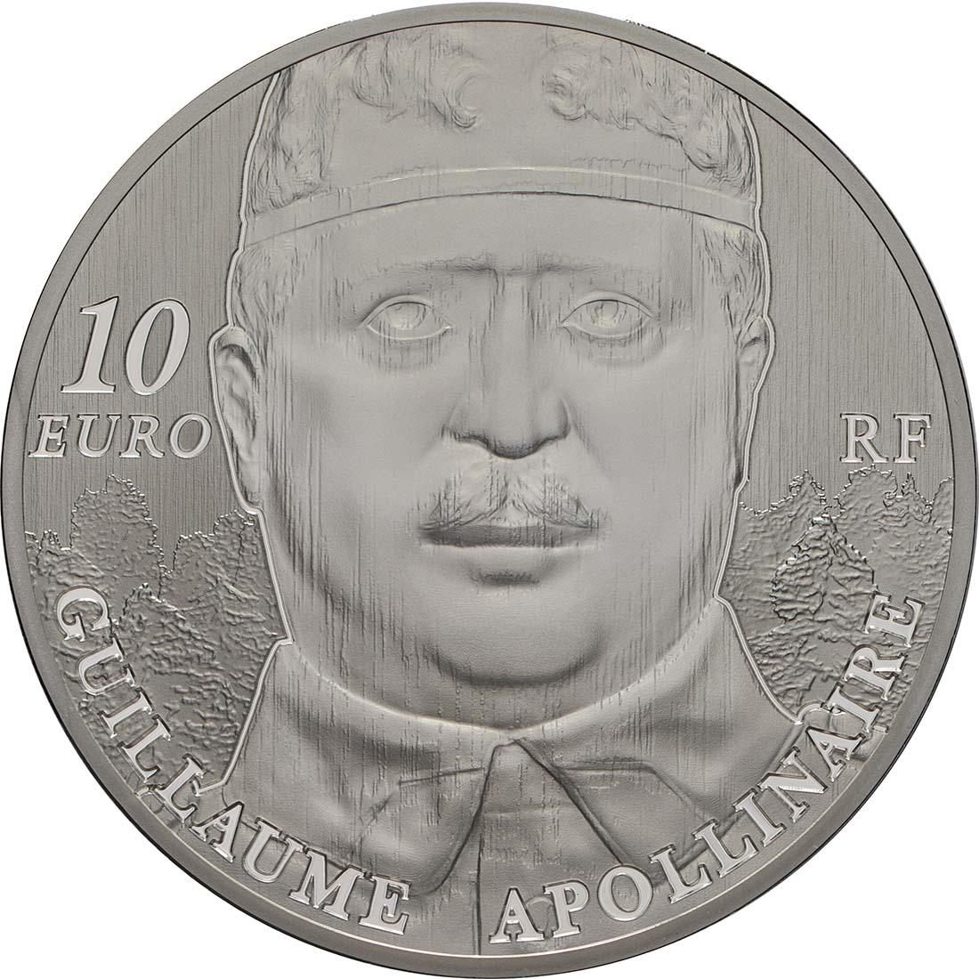 Rückseite:Frankreich : 10 Euro Guillaume Apollinaire  2018 PP