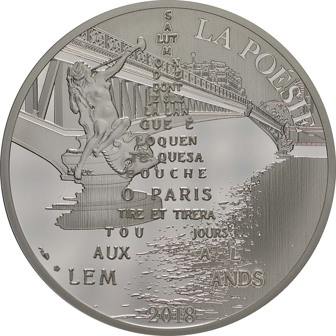 Vorderseite:Frankreich : 10 Euro Guillaume Apollinaire  2018 PP
