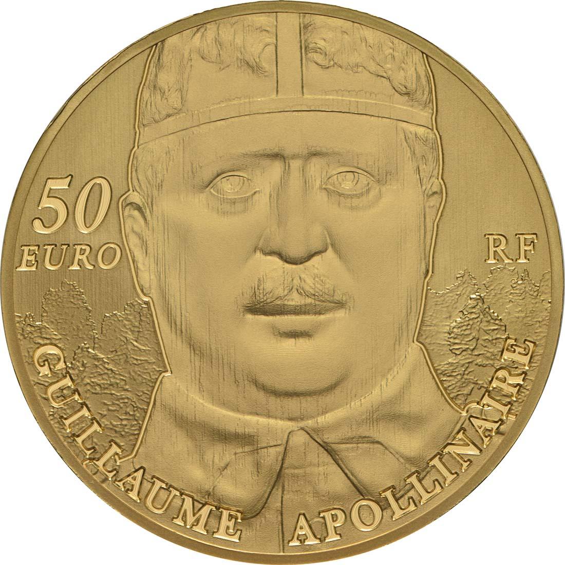 Rückseite:Frankreich : 50 Euro Guillaume Apollinaire  2018 PP