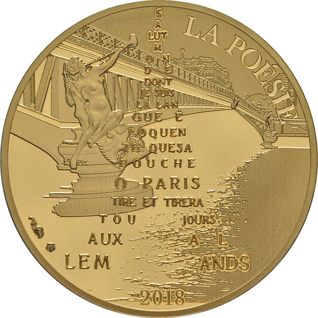 Vorderseite:Frankreich : 50 Euro Guillaume Apollinaire  2018 PP