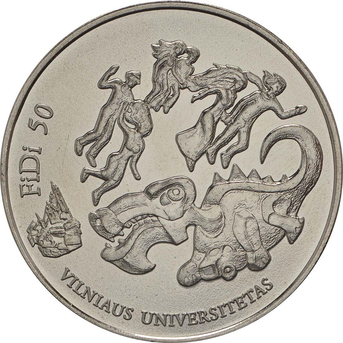 Vorderseite :Litauen : 1,5 Euro Tag der Physik an der Universität Vilnius  2018 bfr