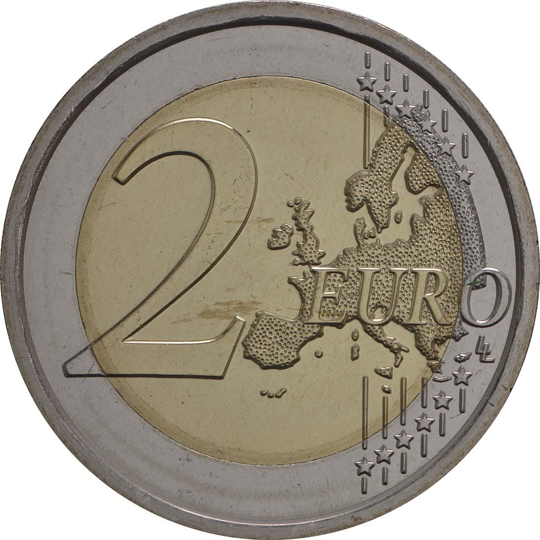 Vorderseite:Vatikan : 2 Euro Europäisches Jahr des Kulturerbes  2018 Stgl.