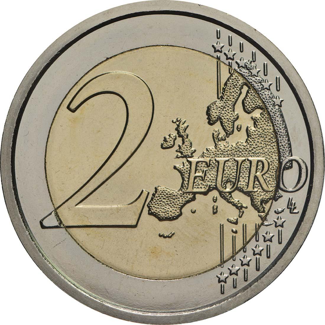 Vorderseite:Vatikan : 2 Euro 50. Jahrestag des Todes von Pater Pio  2018 bfr