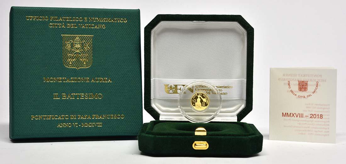 Übersicht:Vatikan : 10 Euro Die Taufe - MMXVIII  2018 PP
